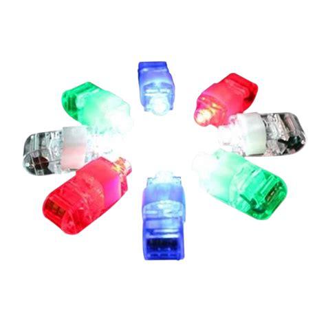 Laser Finger Beam Light 8 color led laser finger ring lights beam torch fj88