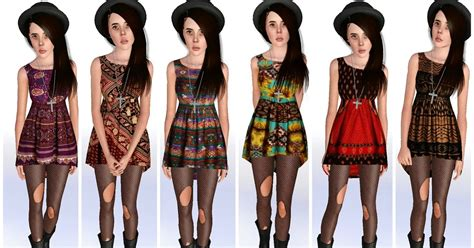 1095 Korean Set Cloth my sims 3 minkpink dress set by ilikeyourfacesims