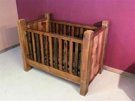 Rustic Baby Cribs Rustic Barn Wood Baby Crib With Thick Posts Barn Wood