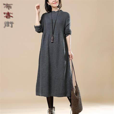 Turtleneck Sweater Dress High Quality autumn winter sweater knitted dresses slim