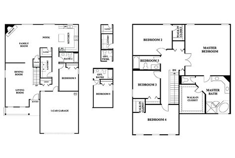 2 story floor plans with garage plans 2 story house plans without garage 5 bedroom floor