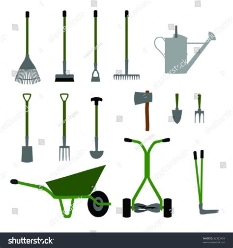 gardening tools and equipment set no 1 stock vector