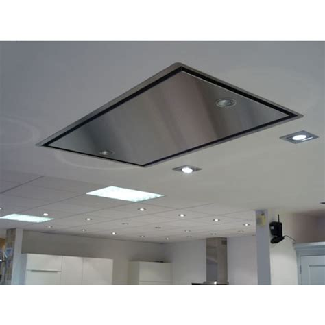 Kitchen Islands Stainless Steel by Abk Neerim Ceiling Mounted Extractor Hood External Motor Required Neerim Em Cooker Hoods Ceiling