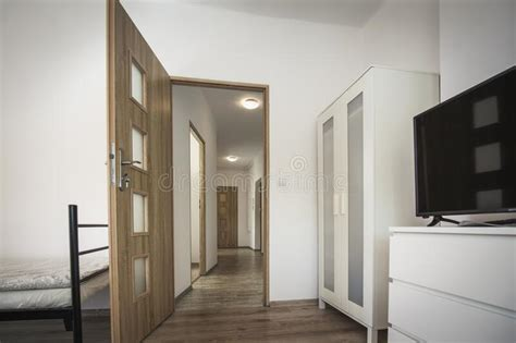 elegance anteroom interior  warm tones stock photo