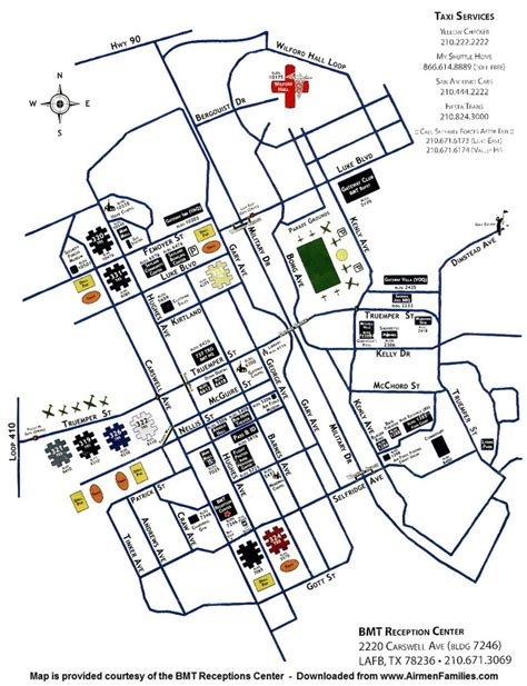 lackland texas map san antonio lackland map