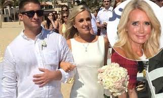 kim richards high at daughters wedding cursed out groom kim richards daughter brooke brinson escorted down the