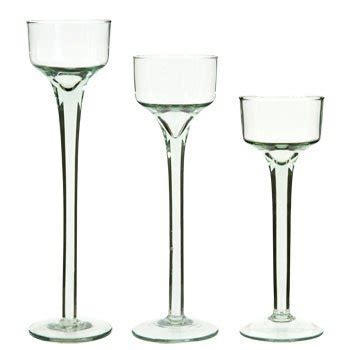 stem glass tealight candleholders - Glas Kerzenhalter Set