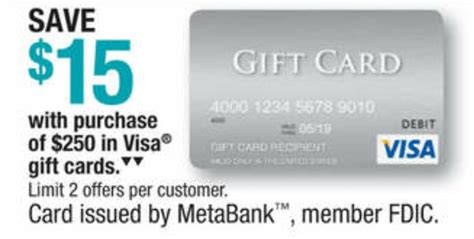 Do Visa Gift Cards Expire - expired officemax 15 off 250 visa giftcards free money opportunity doctor of credit