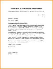 Covering Letter For Work Experience by 3 Work Experience Letter Exles Blank Loan Agreement