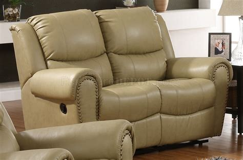 cream leather reclining sofa cream bonded leather transitional reclining sofa w options