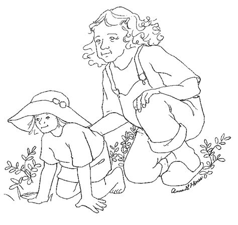 anna and simeon coloring pages