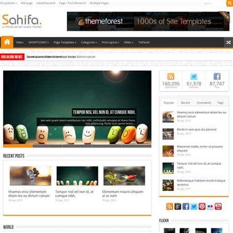sahifa theme for wordpress free wordpress blog themes 2013 blogoftheworld