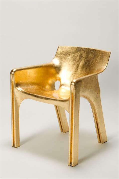 golden gaudi magistretti chair  art sillas oro
