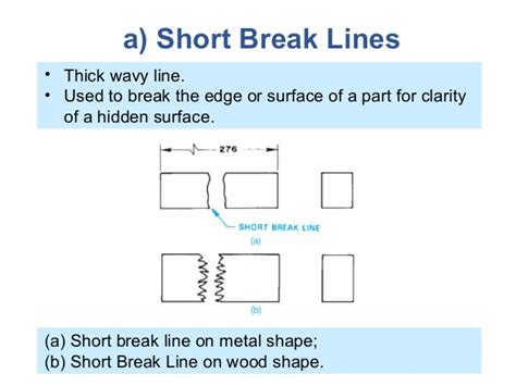 section break definition lettering and lines presentation