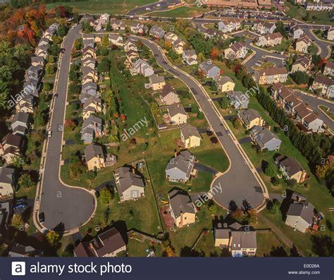 Virginia Search Loudoun County Loudoun County Virginia Usa Aerial Of Suburban Housing Stock Photo Royalty Free