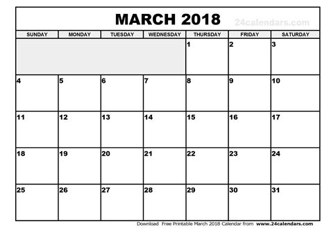 printable calendar 2018 february and march march 2018 calendar calendar printable free