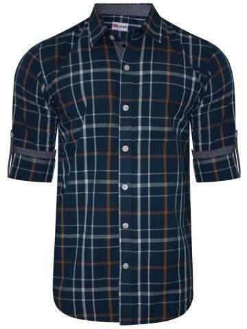 nologo navy casual shirt   nologo cs 019   cilory.com