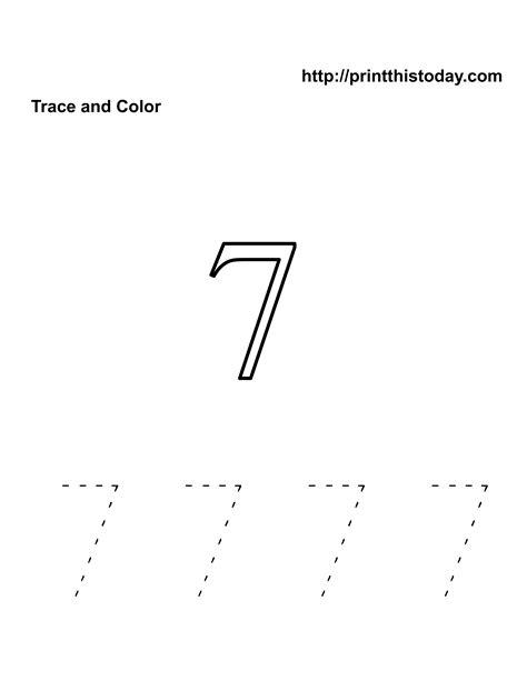number 7 worksheets free kindergarten math worksheets number seven 7