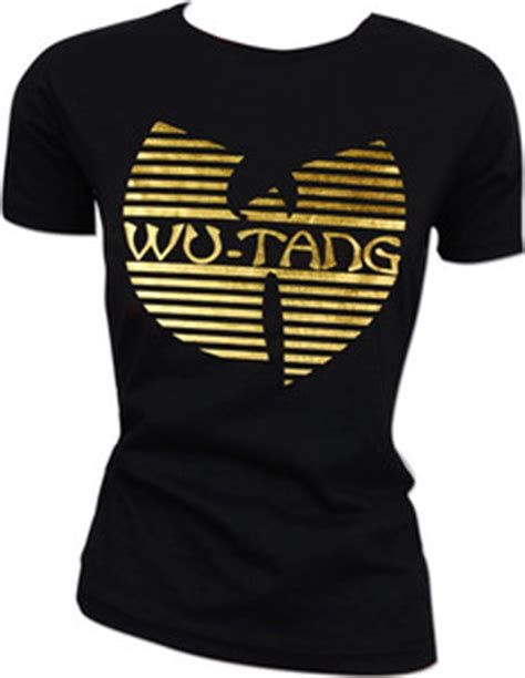 Tshirt Wutang Foil wu tang clan hip hop gold foil rza gza blackout the w dj