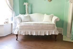custom order shabby chic loveseat white by vintagechicfurniture
