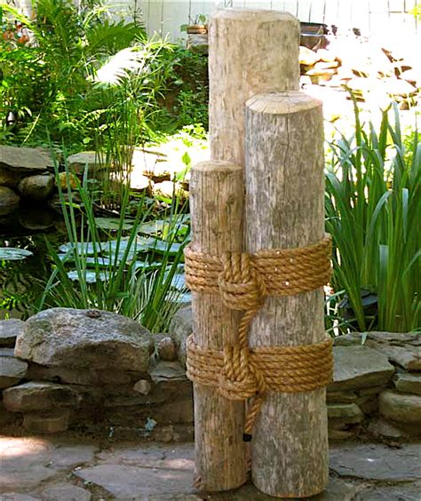 nautical patio decor nautical pilings with rope quotes