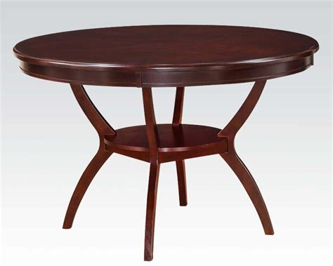 roung dining table oswell by acme furniture ac71600