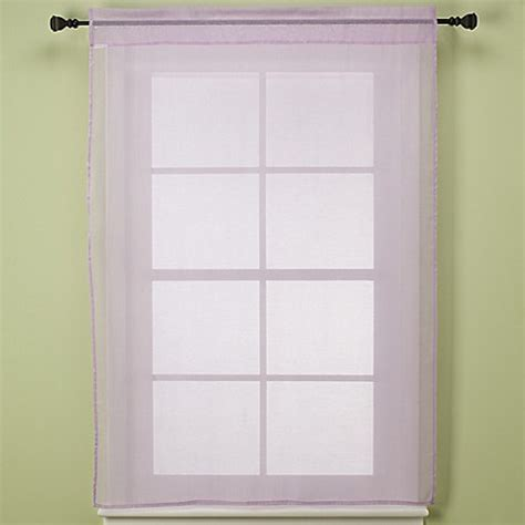 shimmer sheer curtains nojo 174 shimmer curtain in lavender bed bath beyond