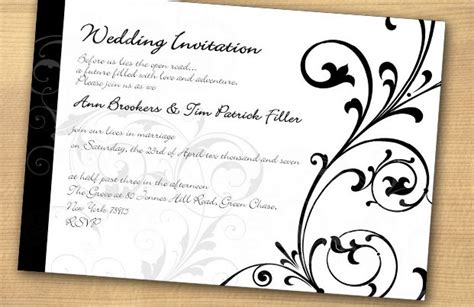 black and white wedding invitations black and white quot i do quot they vowed