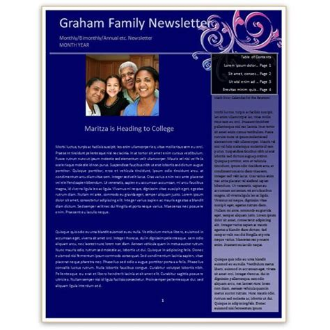 free newsletter templates for word free newsletter templates word