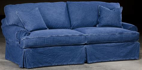 blue jean slipcovers slip cover denim style sofa