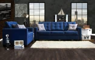 Blue Living Room Furniture Blue Sofa Set Smalltowndjs