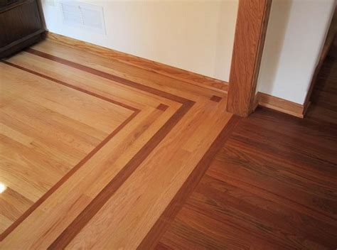 Different Flooring by Different Wood Floors In House With Border Accent Flooring Ideas Floor Design Trends