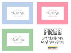 free thank you card templates thank you card printable template search results