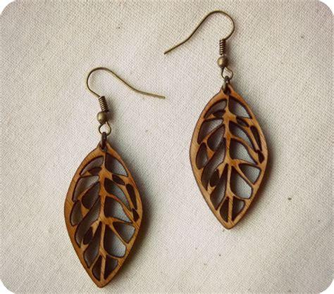 how to make laser cut jewelry leaf earrings dangle earrings laser cut wooden