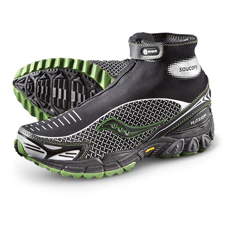 waterproof athletic shoes s saucony 174 progrid razor waterproof trail running