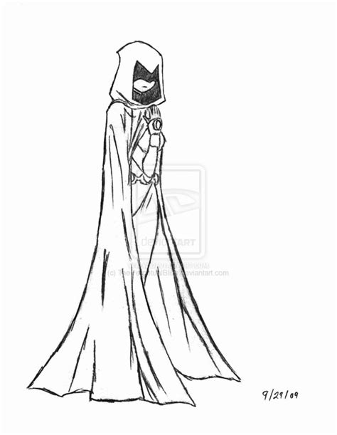 raven superhero coloring page raven by theperpetualbliss on deviantart
