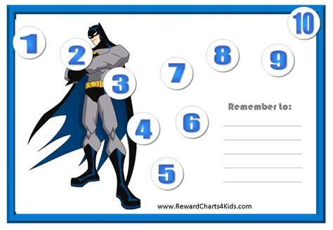 Batman Printable Reward Charts | batman behavior charts