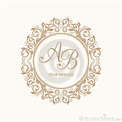 Monogram Stock Photo Image 58258042 Wedding Logo Design Template