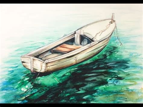 paintings of boats on water watercolor sea boat on a water painting demonstration