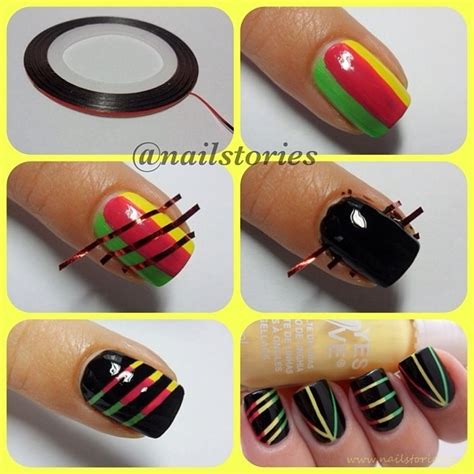 nail art tutorial using tape paint me chic nail art designs using scotch tape