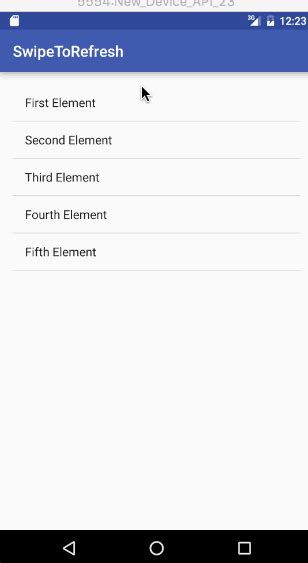 java layout refresh android swipe to refresh output journaldev