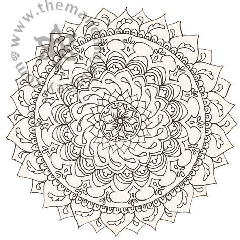 tattoo mandala coloring pages line mandalas