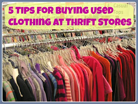 5 secrets for success when shopping for used clothing at
