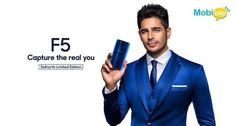 Oppo F5 64 Gb Limited Edition just in oppo f5 sidharth limited edition phone mobiblip
