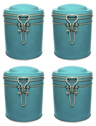 Kitchen Set Mischa set of 4 micha kitchen canister jars with metal clip