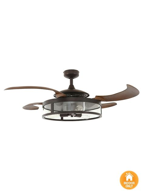 fanaway retractable blade ceiling fans fanaway classic orb ceiling fan with brown coloured
