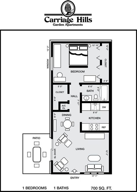 700 square feet apartment floor plan houses under 700 square feet carriage hills floor plans