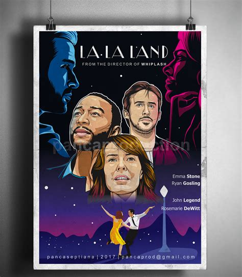 la la land fans la la land movie poster fan art on behance