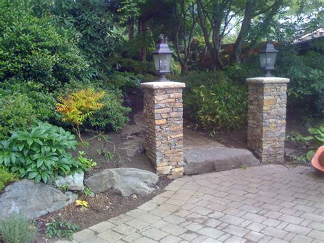 Entrance Columns Designs For Walls In Bedrooms Driveway Entrance Wall