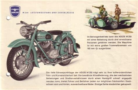 Motorrad Flohmarkt Berlin by Adler Motorrad M 250 Prospekt 1953 Nr Adl M5313